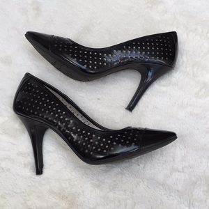 Christian Siriano Perforated Vegan Leather Pump